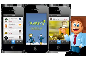 phone and app design